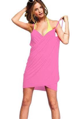 Mite Love Kadın Plaj Elbisesi Pembe Kısa Pareo