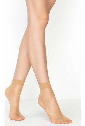 Mite Love Süper İnce Mat 15 Denye Soket Çorap Ten