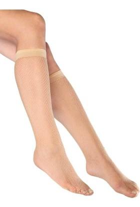 Mite Love File Diz Altı Kadın Çorabı Ten