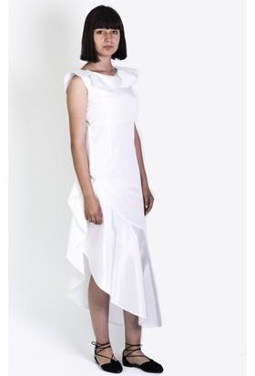 Kavshak Volan Yakalı Elbise