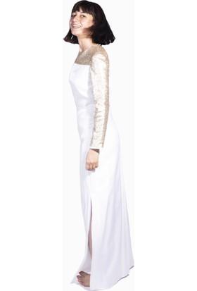 Kavshak Payet Omuzlu Elbise