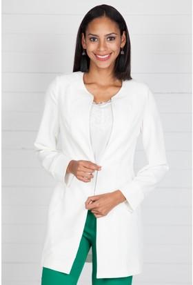 Pinkmark Kadın Beyaz Ceket
