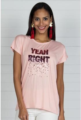Pinkmark Kadın Pudra T-Shirt