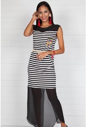 Pinkmark Kadın Siyah - Beyaz Elbise