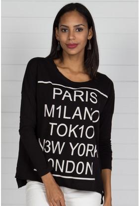Pinkmark Kadın Siyah T-Shirt