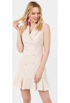 İroni Kolsuz Blazer Elbise - 5132-891
