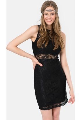 İroni Dantel Mini Elbise - 5201-1239