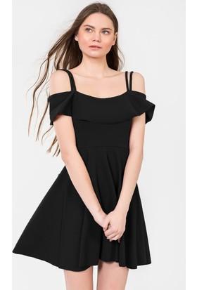 İroni Askılı Mini Elbise - 558263-Ee