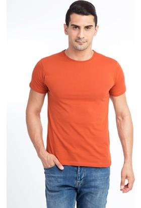 Kiğılı Bisiklet Yaka Slimfit Tişört