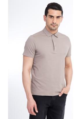 Kiğılı Yarım İtalyan Yaka Slimfit Tişört
