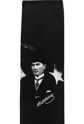 Varetta Atatürk İmzalı Dokuma Kravat