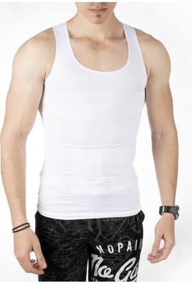 Deepsea Beyaz Likralı Erkek Korse Atlet 1707149