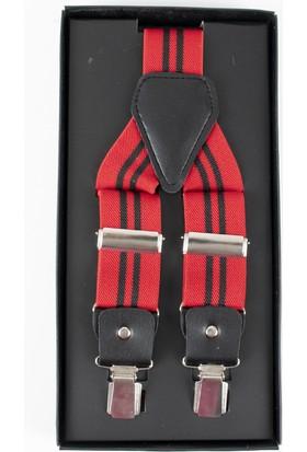 Deepsea Kırmızı Desenli Erkek Pantolon Askısı 1701400