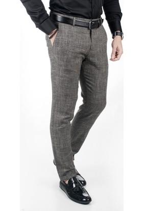 Deepsea Siyah Kırçıllı Desenli Duble Paça İtalyan Kesim Erkek Spor Pantolon 1807290