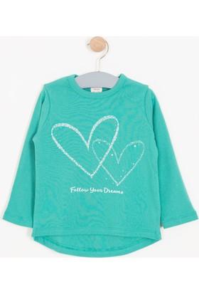 Soobe Kız Çocuk Uzun Kol T-Shirt Yeşil