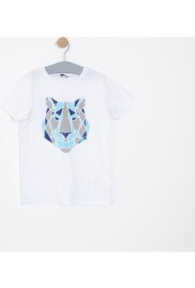 Soobe Erkek Çocuk T-Shirt Beyaz (3-12 Yaş)