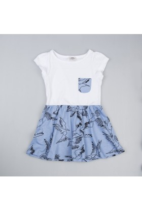Soobe Kız Çocuk Elbise Mavi
