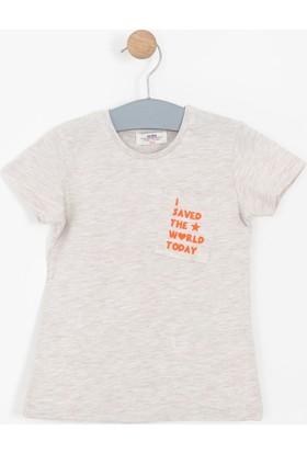 Soobe Kız Çocuk Kısa Kol T-Shirt Bej