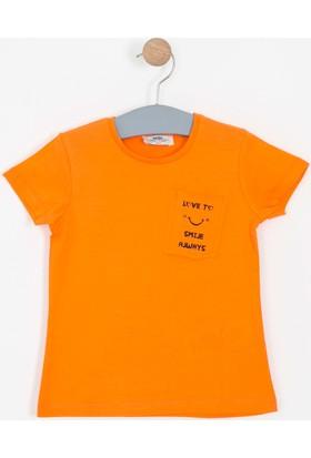 Soobe Kız Çocuk Kısa Kol T-Shirt Turuncu