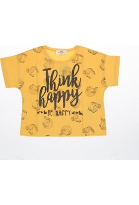 Soobe Kız Çocuk T-Shirt Sarı (3-12 Yaş)