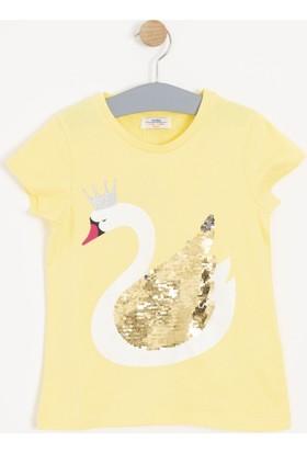 Soobe Kız Çocuk Kısa Kol T-Shirt Sarı