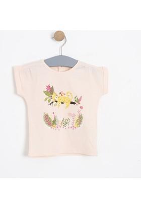 Soobe Kız Bebek Kısa Kol T-Shirt Pembe