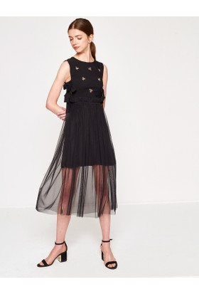 Koton Nakışlı Elbise