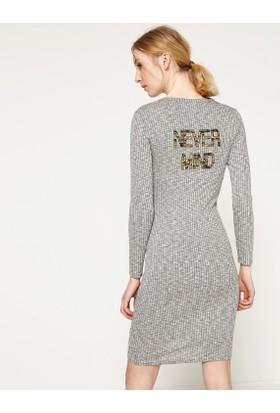Koton Yazılı Baskılı Elbise