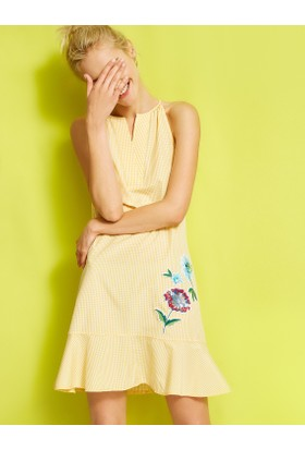 Koton Nakış Detaylı Elbise