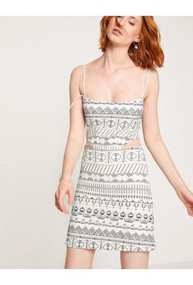 Koton Sırt Detaylı Askılı Elbise