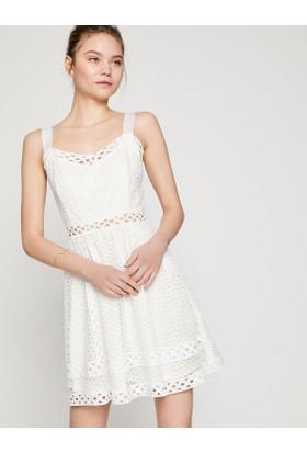 Koton Sırt Detaylı Dantel Elbise