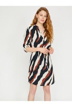 Koton Renk Bloklu Elbise