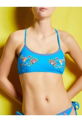 Koton İşlemeli Bikini Üstü