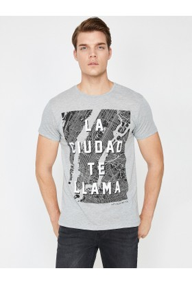 Koton Yazılı Baskılı Tshirt