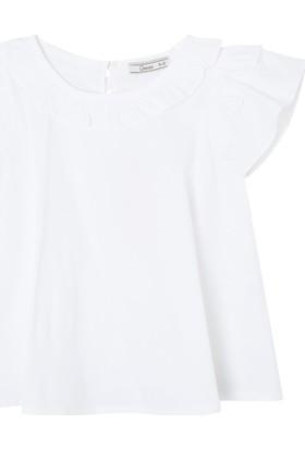 Goose Kız Çocuk Kolu Yaksi Buzgulu Bluz