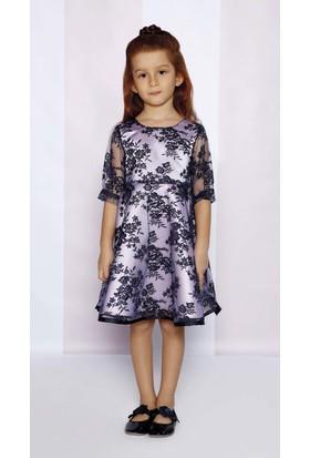 Goose Kız Çocuk Dantelli Volanli Elbise