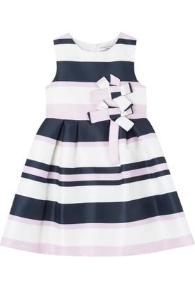 Goose Kız Çocuk Çizgili Fiyonklu Elbise