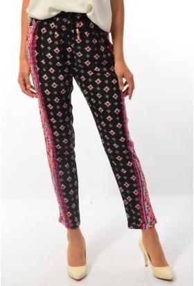 Cazibe Bayan Desenli Şalvar Pantolon