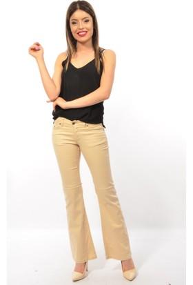 Starlife Bayan İspanyol Paça Keten Pantolon 1424
