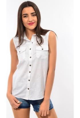 Emet Bayan Kolsuz Keten Gömlek 1460