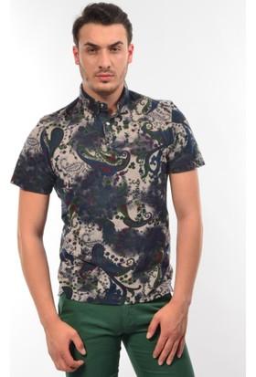 Tony Montana Erkek Desenli Polo Yaka T-Shirt
