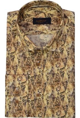 Albertino Erkek Slim Fit Baskılı Gömlek 2631