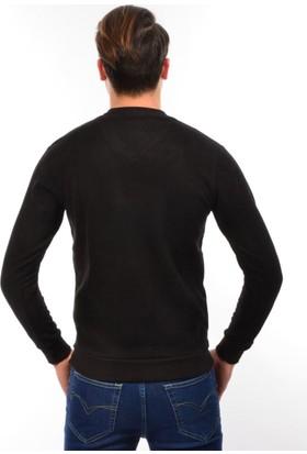 Golfino Erkek V Yaka Omuz Detaylı Sweatshirt 113