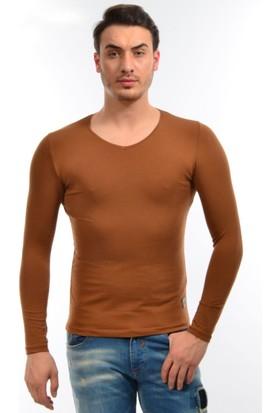 Dies Uzun Kol V Yaka Camel Sweatshirt