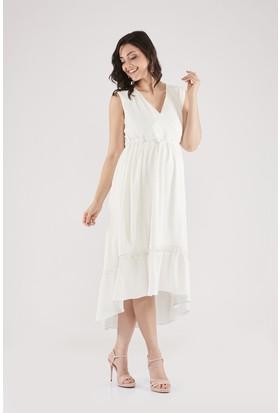 Lyn Devon Diana Elbise Beyaz