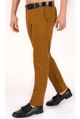 Madmext Likralı Gabardin Hardal Rengi Pantolon 2177