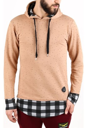 Madmext Camel Kapşonlu Sweatshirt 2102