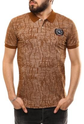 Madmext Baskılı Polo Yaka T-Shirt