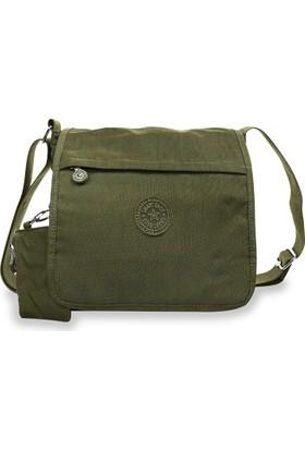 Smart Bags Krinkıl Kumaş Kadın Çapraz Çantası Koyu Yeşil