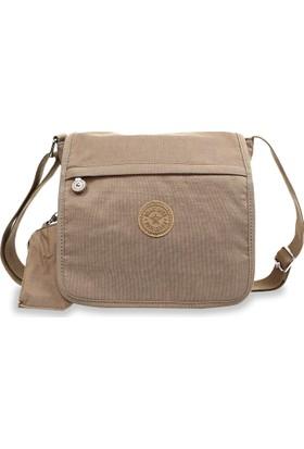 Smart Bags Krinkıl Kumaş Kadın Çapraz Çantası Açık Kahve